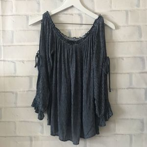 American Eagle | off-the-shoulder ruffle blouse